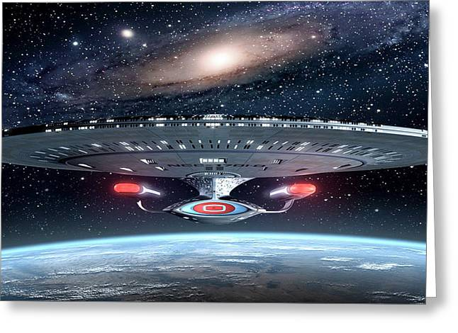 Star Trek Uss Enterprise                   Greeting Card
