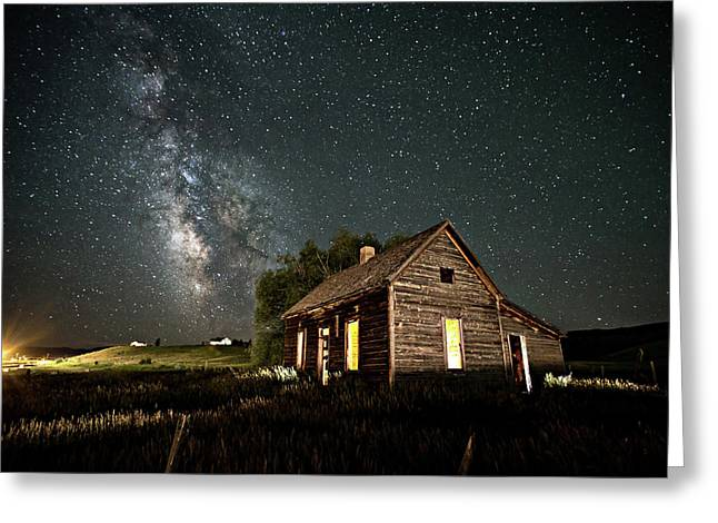 Star Valley Cabin Greeting Card