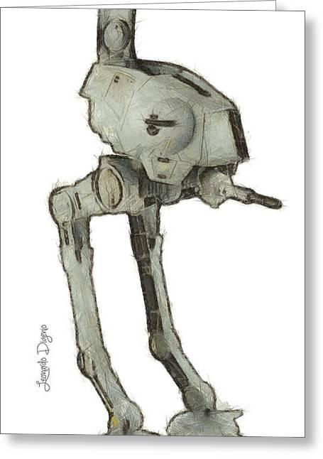 Star Wars Assault Robot - Da Greeting Card