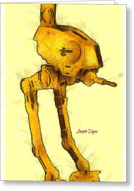Star Wars Assault Walking Robot - Da Greeting Card