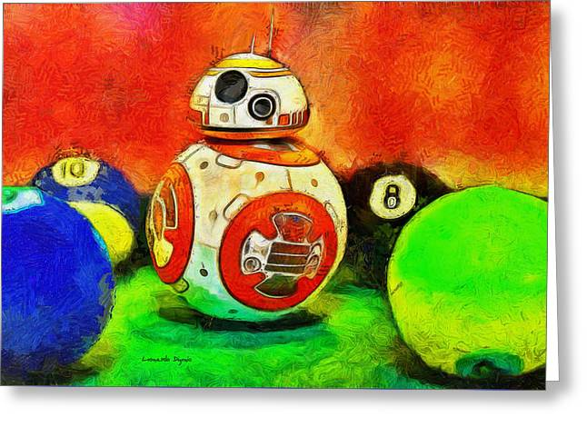 Star Wars Bb-8 And Friends - Da Greeting Card