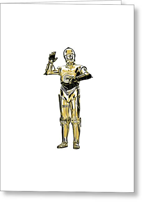 Star Wars C-3po Droid Tee Greeting Card