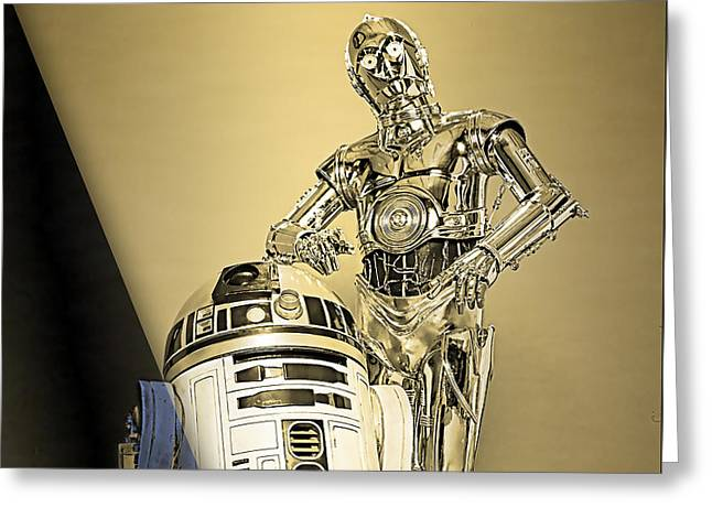 Star Wars C3po And R2d2 Collection Greeting Card