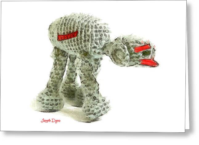 Star Wars Combat Crochet Armoured Vehicle Greeting Card