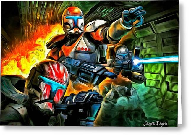 Star Wars Commando - Da Greeting Card