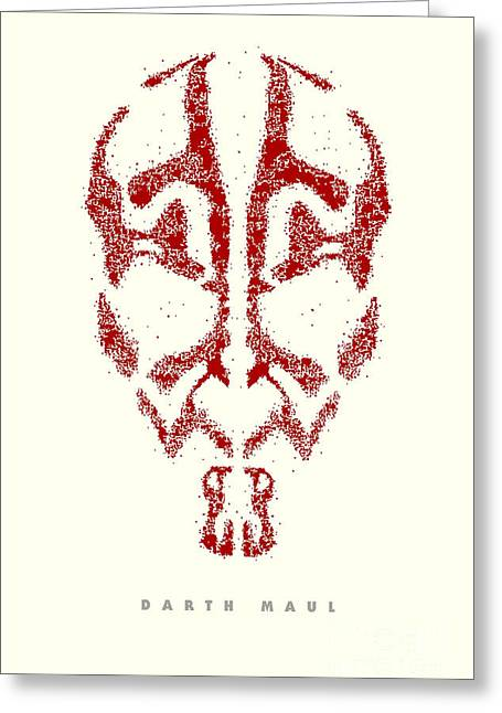 Star Wars - Darth Maul Greeting Card by Luca Oleastri