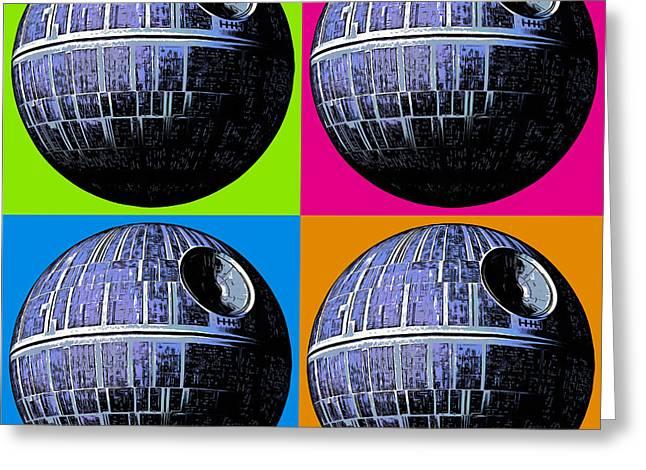 Star Wars Death Star Pop Art Greeting Card