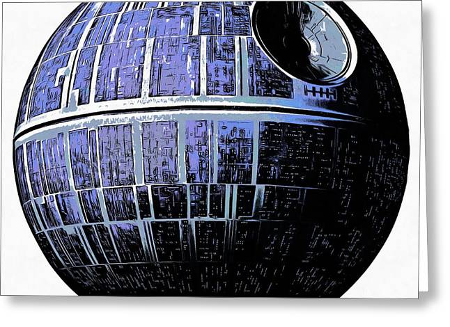 Star Wars Deathstar Graphic Greeting Card by Edward Fielding