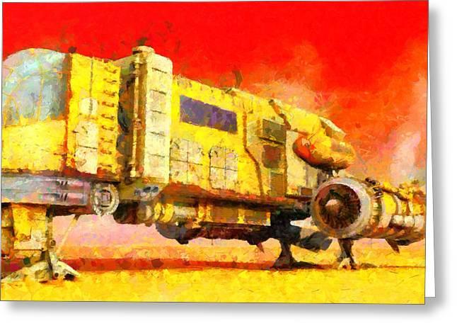 Star Wars Desert Transport Ship - Da Greeting Card