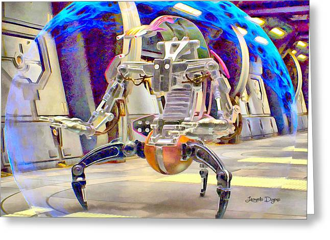 Star Wars Destroyer Droid  - Aquarell Vivid Style -  - Da Greeting Card