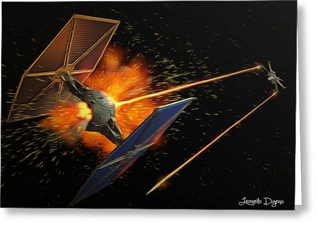 Star Wars Dogfight Greeting Card