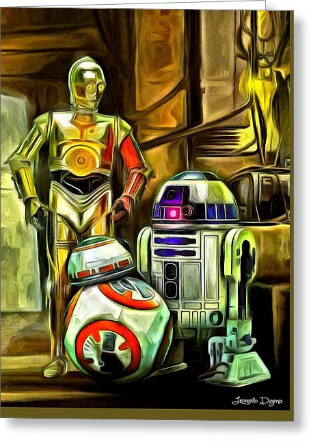 Star Wars Droid Family Greeting Card