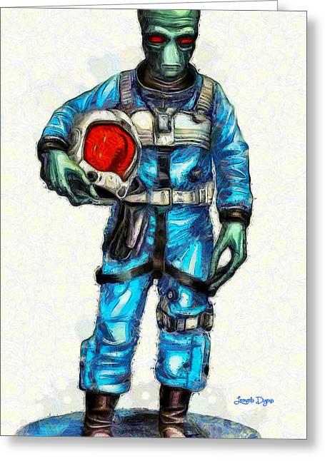 Star Wars Duro Pilot - Pa Greeting Card by Leonardo Digenio