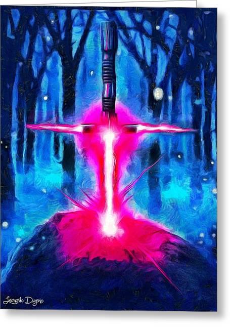 Star Wars Excalibur - Da Greeting Card by Leonardo Digenio