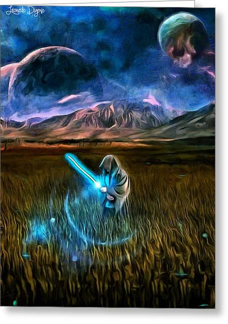 Star Wars Field Greeting Card by Leonardo Digenio