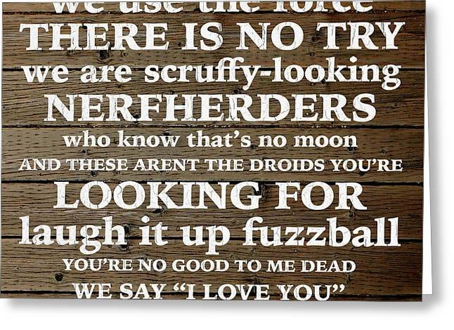 Star Wars Home Quotes Parody Humor Greeting Card