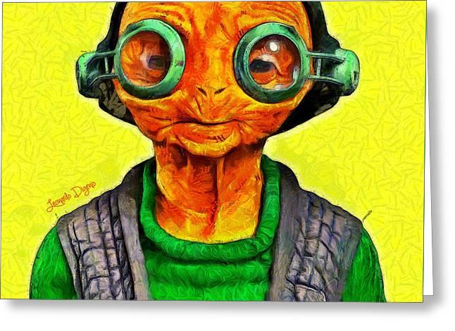 Star Wars Maz Kanata - Pa Greeting Card by Leonardo Digenio