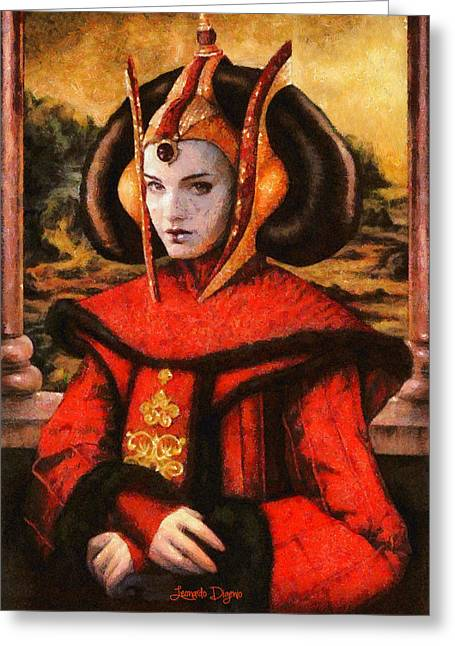 Star Wars Queen Amidala Classical Greeting Card