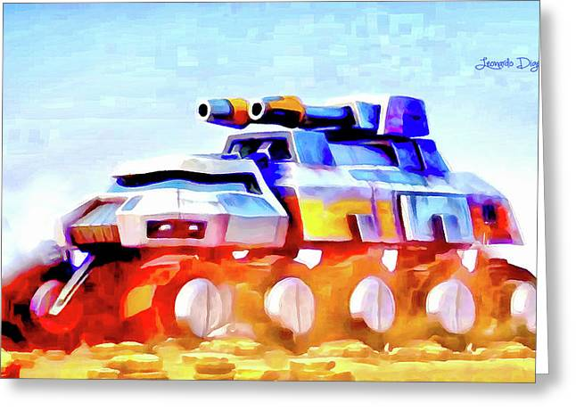 Star Wars Rebel Army Armor Vehicle - Aquarell Vivid Style Greeting Card