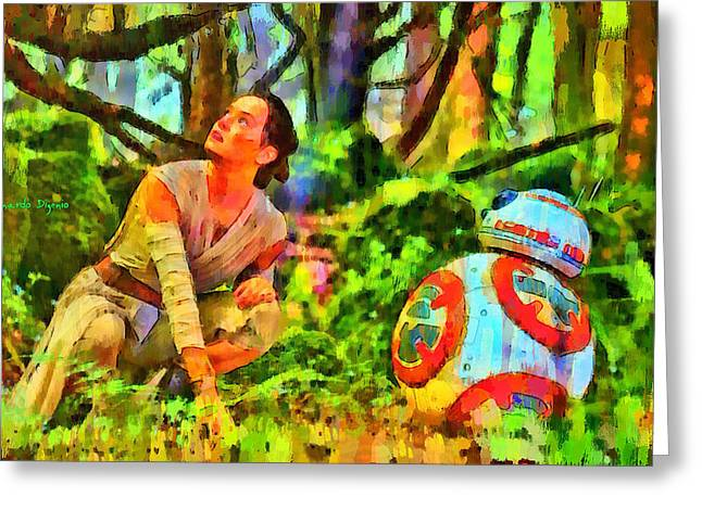 8 ball greeting cards page 12 of 13 fine art america star wars rey and droid da greeting card m4hsunfo