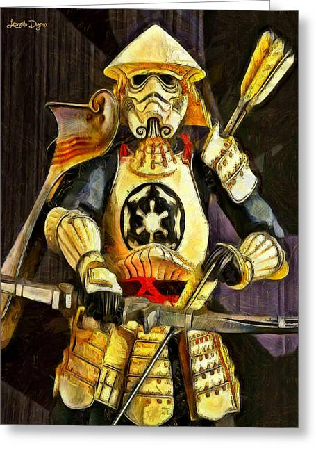 Star Wars Samurai Trooper - Pa Greeting Card by Leonardo Digenio