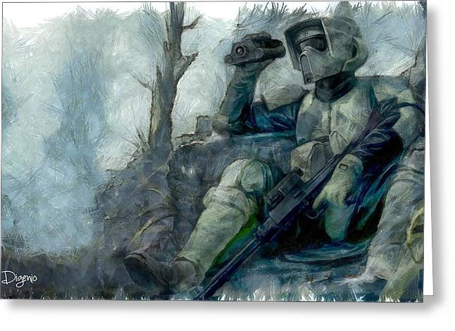 Star Wars Scout-trooper Greeting Card by Leonardo Digenio