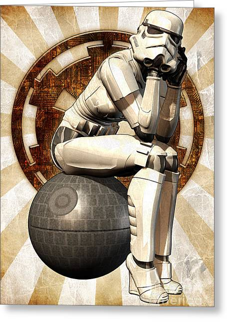 Star Wars - Stormtrooper Girl Greeting Card by Luca Oleastri