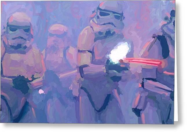 Star Wars Stormtroopers Blasting Away Greeting Card