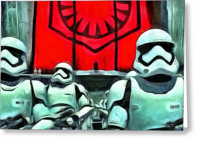Star Wars The Emperor Greeting Card by Leonardo Digenio
