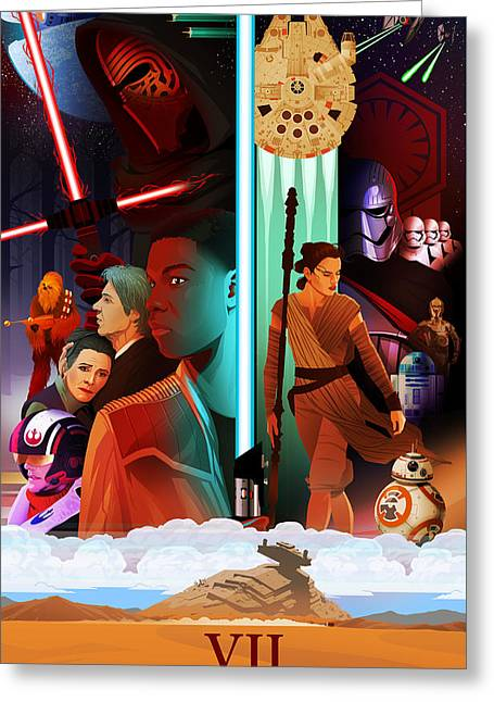 Star Wars The Force Awakens Alternative Poster Greeting Card