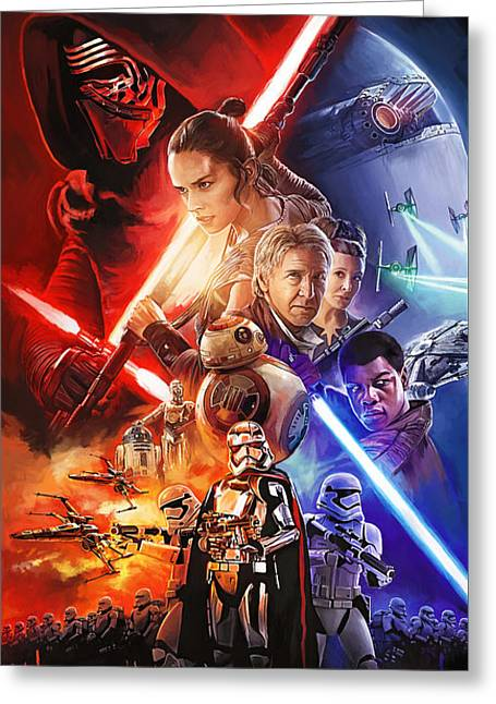 Star Wars The Force Awakens Artwork Greeting Card