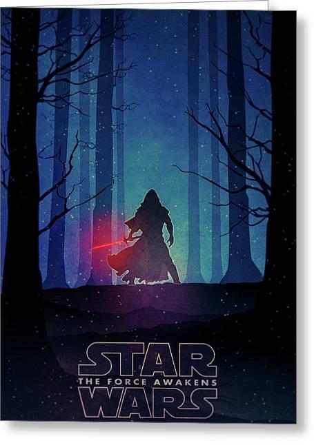 Star Wars - The Force Awakens Greeting Card by Farhad Tamim