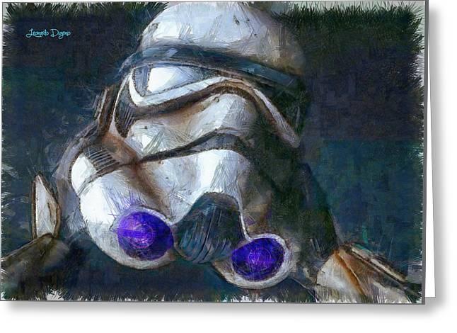 Star Wars Troop - Da Greeting Card by Leonardo Digenio