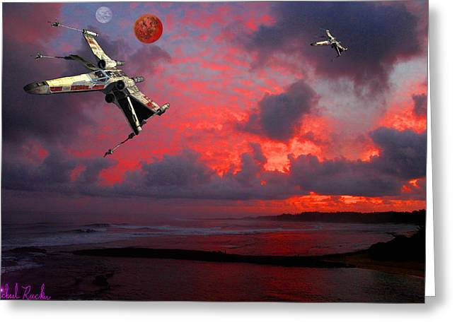 Star Wars X-wing Fighter Greeting Card