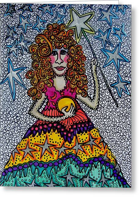 Star Wish  Fairy Greeting Card by Gerri Rowan