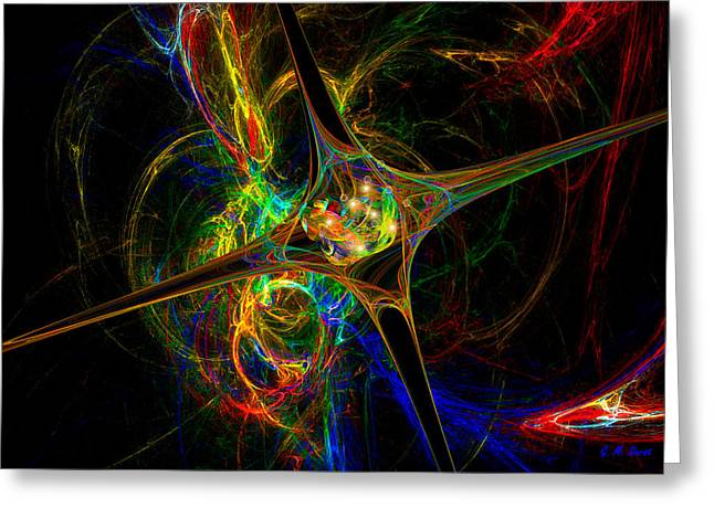 Star Womb Greeting Card by Michael Durst