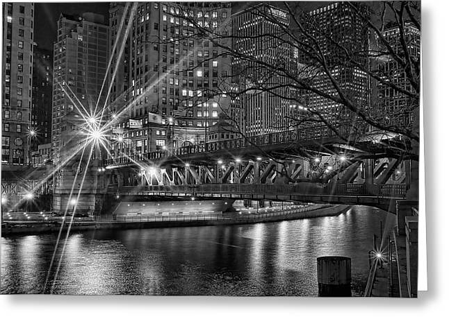 Michigan Ave Greeting Cards - Starbright Greeting Card by Jeff Lewis