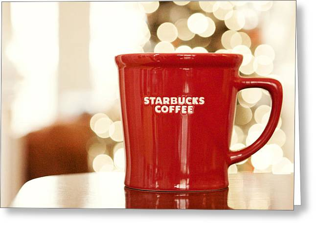 Kim Photographs Greeting Cards - Starbucks Coffee Greeting Card by Kim Fearheiley