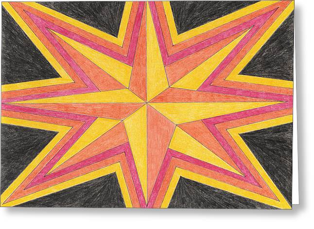 Starburst 2 Greeting Card by Eric Forster