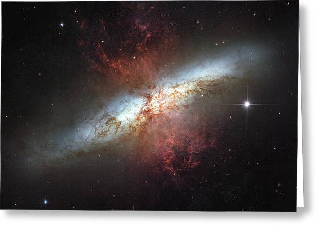 Starburst Galaxy, Messier 82 Greeting Card by Stocktrek Images