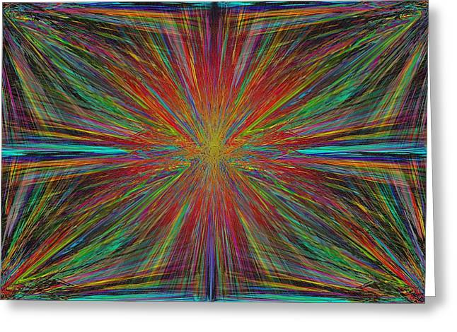 Starburst Greeting Card by Tim Allen