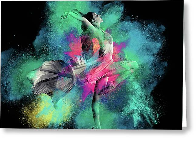 Stardust Dancer Greeting Card
