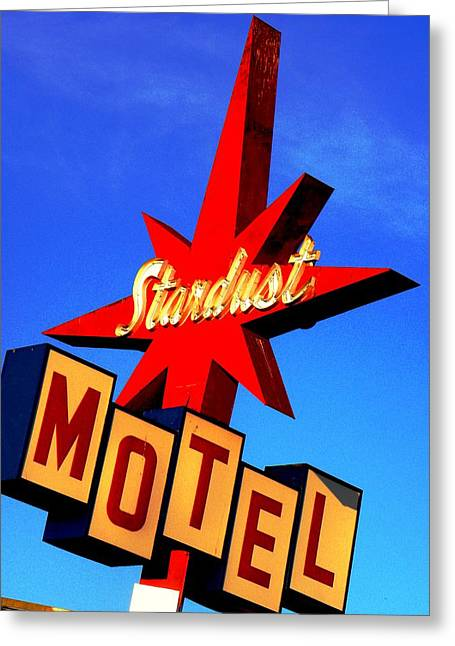 Stardust Motel Greeting Card