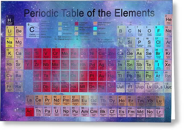 Stardust Periodic Table No.2 Greeting Card by Carol and Mike Werner