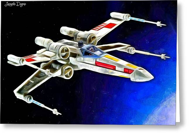 Starfighter X-wings - Da Greeting Card by Leonardo Digenio