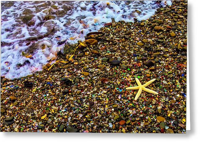 Starfish Among Stones And Sea Glass Greeting Card