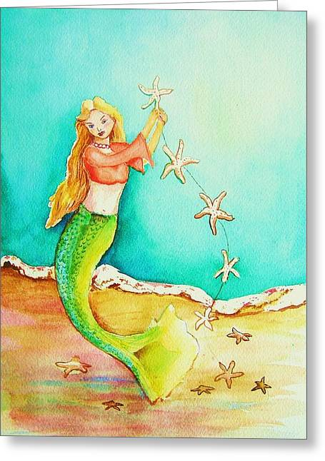 Starfish Mermaid Greeting Card