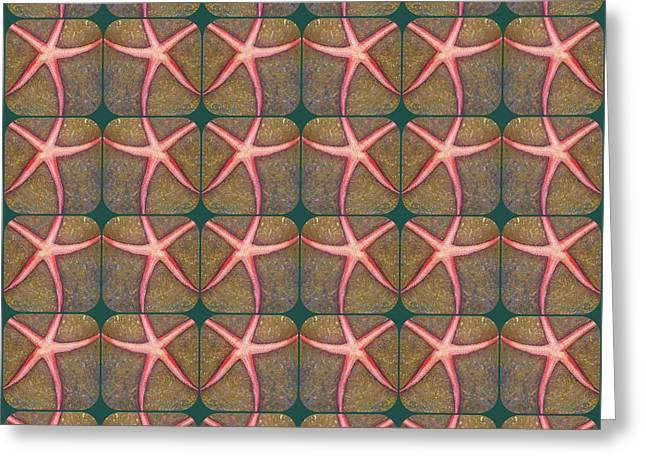 Starfish Pattern Greeting Card