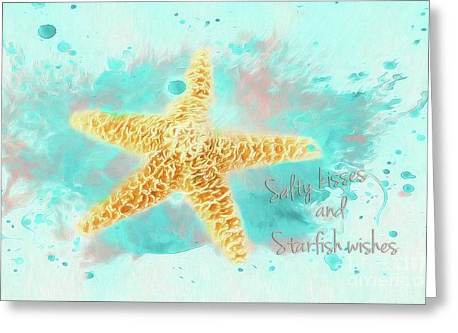 Starfish Wishes Greeting Card by Darren Fisher