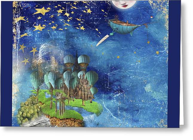 Starfishing In A Mystical Land Greeting Card